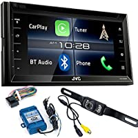 JVC KW-V820BT 6.8 In-Dash DVD, Apple CarPlay receiver with Steering Wheel Interface and Back Up Camera