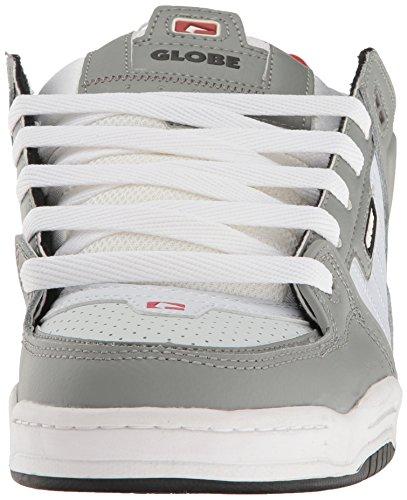Globe  Fusion,  Herren Sneaker Low-Tops , grau - Grau / Weiß / Rot - Größe: 42 EU (M) UK