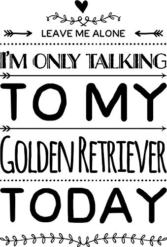HZ Graphics Leave Me Alone Iâ€M Only Talking to My Golden Retriever Today Vinyl Decal Wall Laptop Bumper Sticker 5