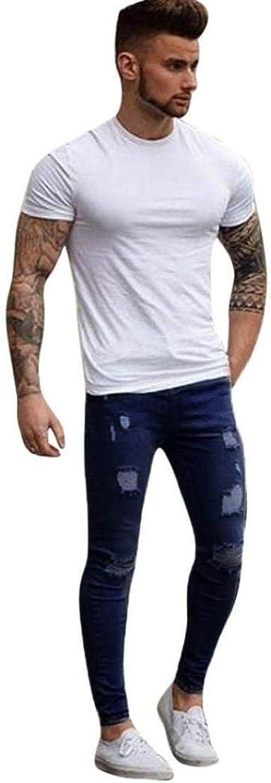 Bolawoo Pantalones Vaqueros Para Hombres Elasticos Para Hombre Rasgados Nn Pantalones Mode De Marca Vaqueros Slim Fit Encolados Y Pegados M Azul Oscuro Amazon Es Ropa Y Accesorios