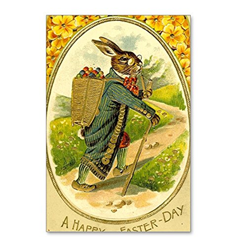 Postcard Easter (CafePress - Standing Easter Bunny Rab - Postcards (Package of 8), 6