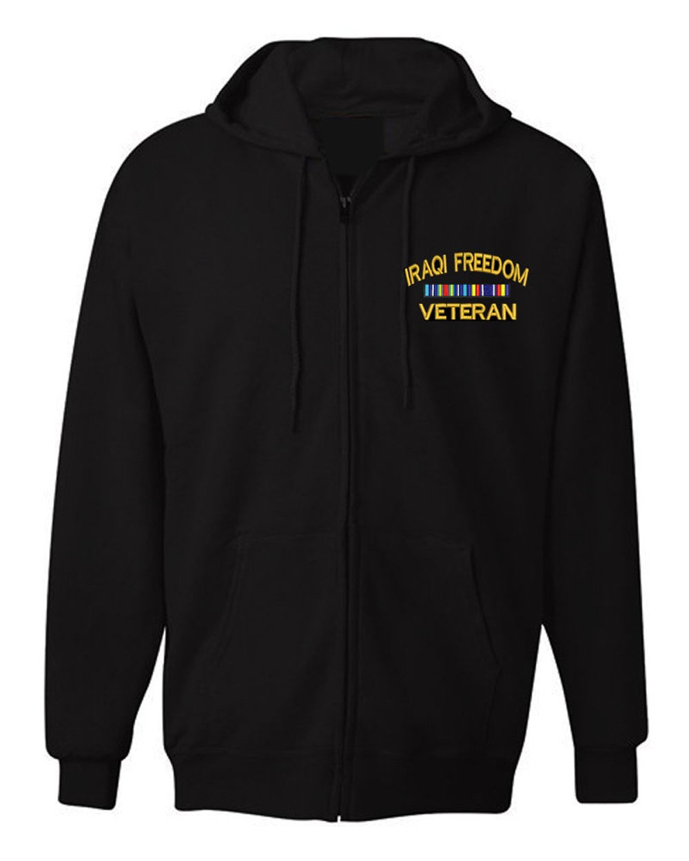 American Law Enforcement Military Iraqi Freedom Veteranジャケットジッパーhoodie-3 X L B01M1UOVJC