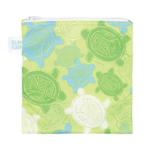 Bumkins Reusable Snack Bag Large, Turtle