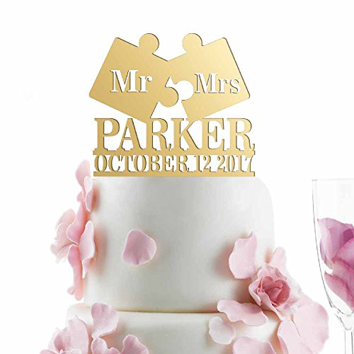 Mr Puzzle Personalized Wedding Mirrored product image