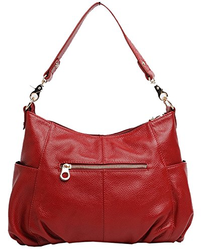 satchel Kuer Handbag Purse Top R Cross Soft Tote Maroon Hereby Shoulder Handle Bag Ladies�� Body 71wd41pPWq