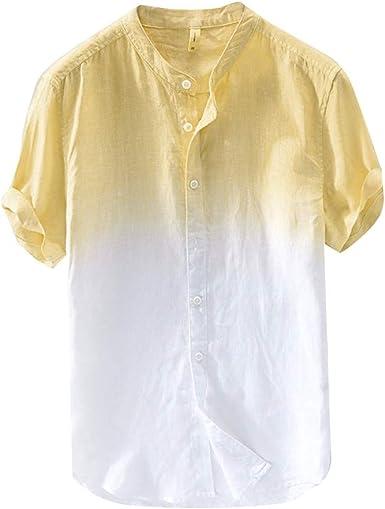 PARVAL Hombre Camiseta de Manga Corta de algodón para Hombre ...