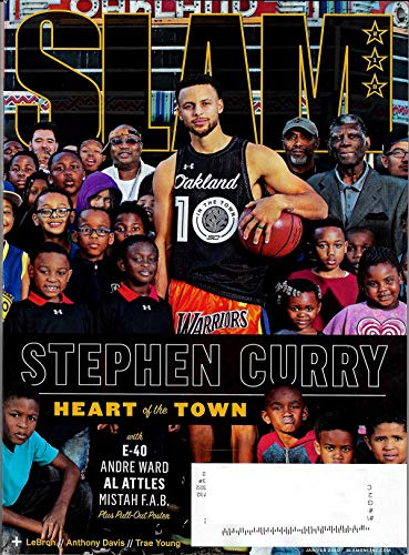 Slam Magazine (January/February, 2019) Stephen Curry Heart of the Town Cover
