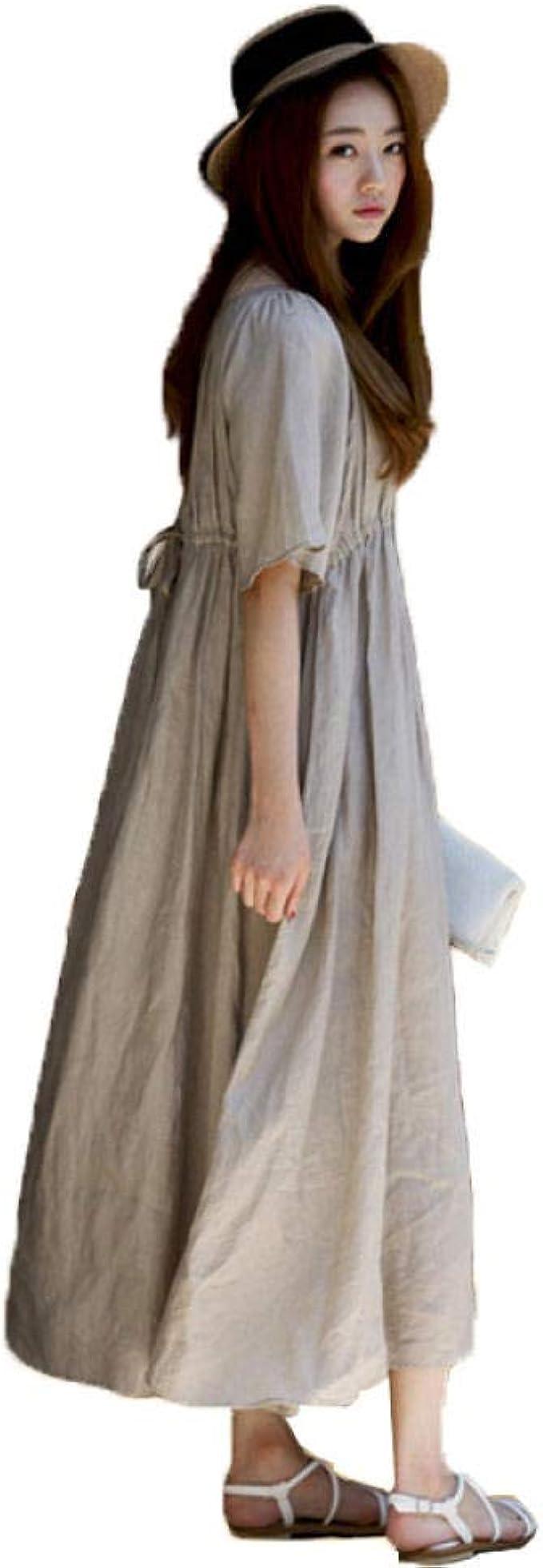 Vestidos premamá de Mujer Falda Larga de Verano Vestido de ...