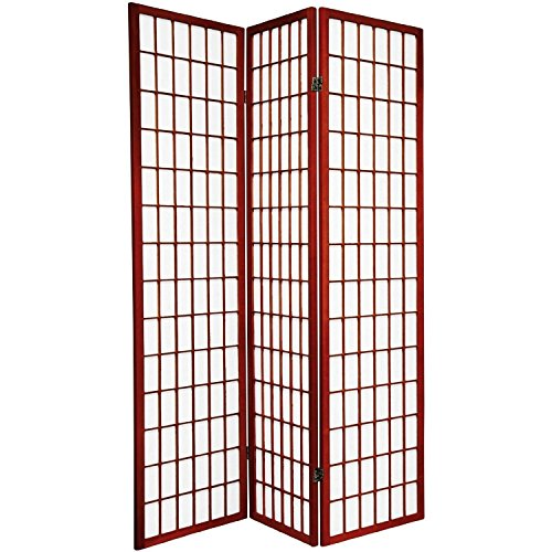ACME 02277 Naomi 3-Panel Wooden Screen, Cherry Finish]()