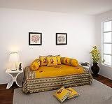 eCraftIndia Dandiya Couple 8 Piece 160 TC Cotton Diwan Set - Green