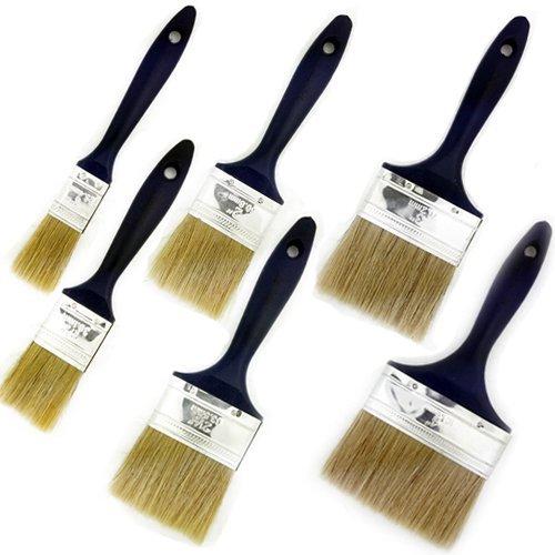 Topzone® 6 Pieces Premium Synthetic Bristle Paint Brushes Set