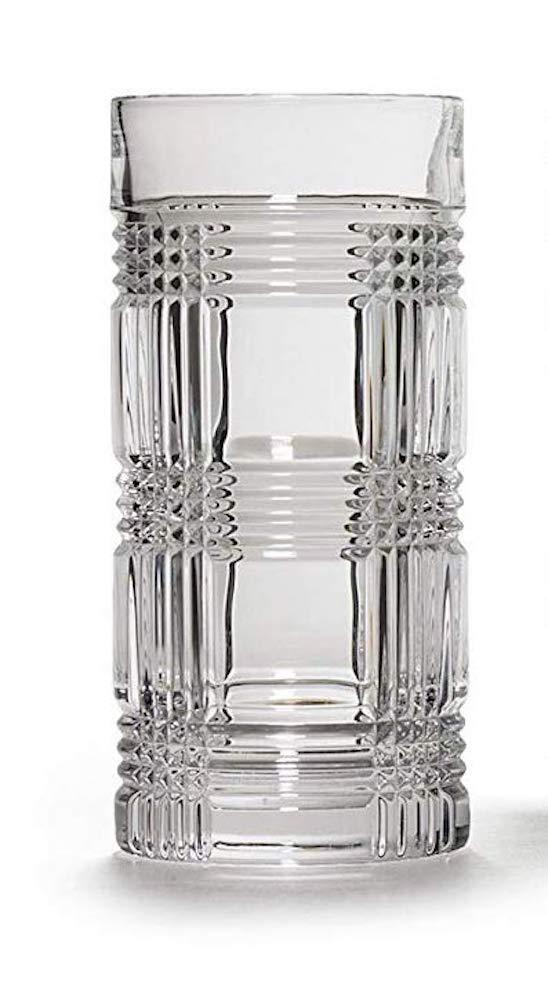 Ralph Lauren Glen Plaid Highball Glass Single Crystal Glass 14 Ounces Made in Germany