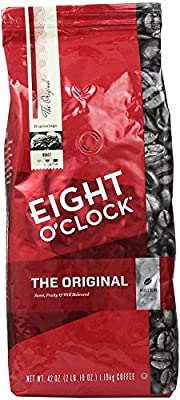 Eight O Clock Coffee, Original Whole Bean, 42 Ounce Package