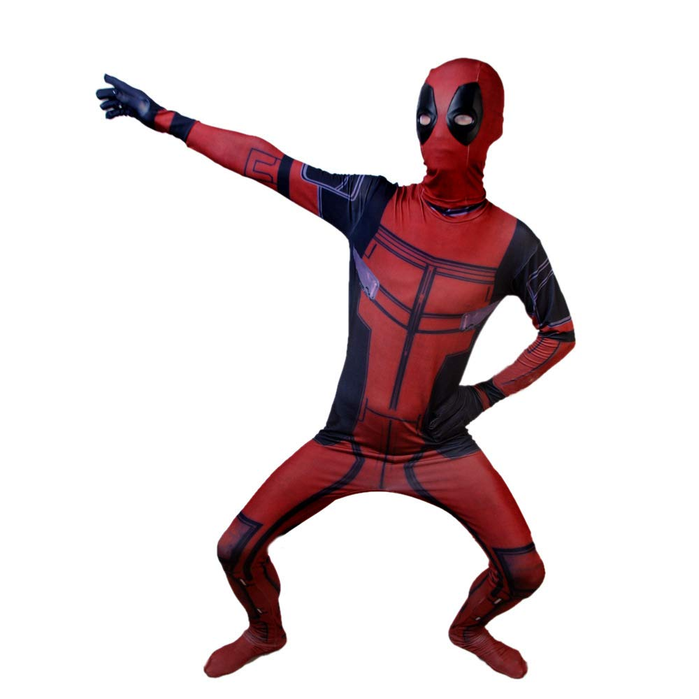 ZHANGQI Deadpool Cosplay Disfraz De Impresión 3D Anime Medias ...