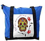 Lunarable Day Of The Dead Shoulder Bag, We Never Gone Quote, Durable with Zipper