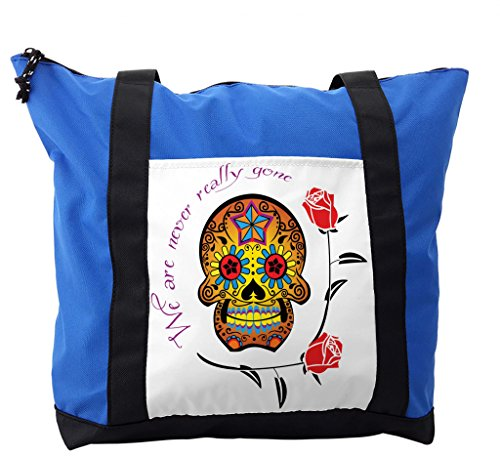 Lunarable Day Of The Dead Shoulder Bag, We Never Gone Quote, Durable with Zipper by Lunarable