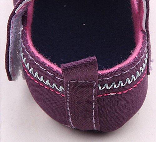 Huhu833 Neugeborene Säuglingsbaby Mädchen Soft Crib Schuhe,Bowknot Anti Rutsch Kleinkind Schuhe (0~18 Month) Violett