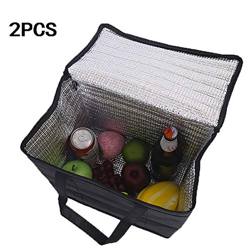 746 Oxford - ZUEN 2PCS Picnic Insulation Package, Larger Capacity Insulated Lunch Bag Oxford Cloth Reusable Lunch Organizer Tote Cooler Bag Handbag Lunch Tote