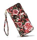 LOVESHE Women's Bueaty Flower Polyester Bifold Purse Clutch Wallet Card Holder New Fashion(17DHH28)