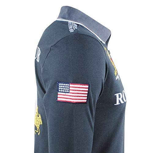 scuro Shirt Geographical cheratina grigio lunghe Norway maniche Polo a Sgq7wSz