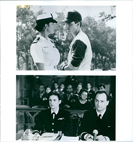 Vintage photo of Demi Moore, Tom Cruise and Kevin Pollak scenes from the 1992 Amercian drama movie,