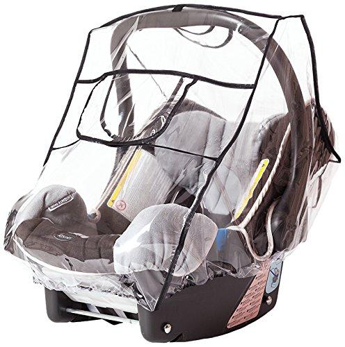 Sunnybaby 20022 Regenverdeck Comfort Plus mit sturmfester Schutzklappe für Babyschale
