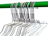 200 White Wire Hangers 18' Standard White Clothes Hangers (200, White)