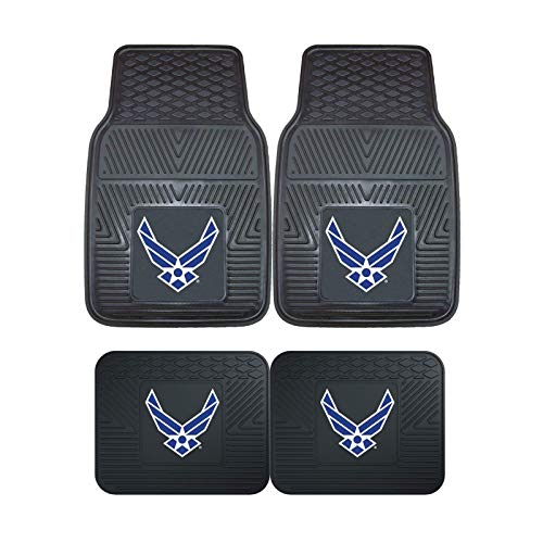 (U.S. Air Force MIL 4pc Floor Mat Sets (Front and Rear) - Heavy Duty-Cars, Trucks, SUVs )