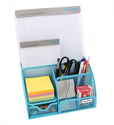 Unclutter In Style: EasyPAG Mesh Desktop Organizer 6 Component Accessories