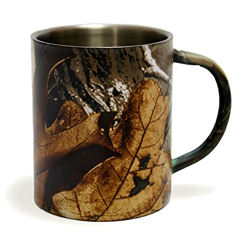 Realtree Camo 10 Oz. Stainless Steel Campfire Coffee Cup Mug