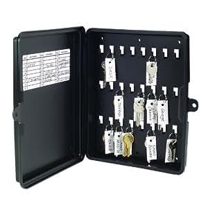 STEELMASTER 24-Key Storage Box, 8.63 x 10 x 1.88 Inches, Black (201712404)