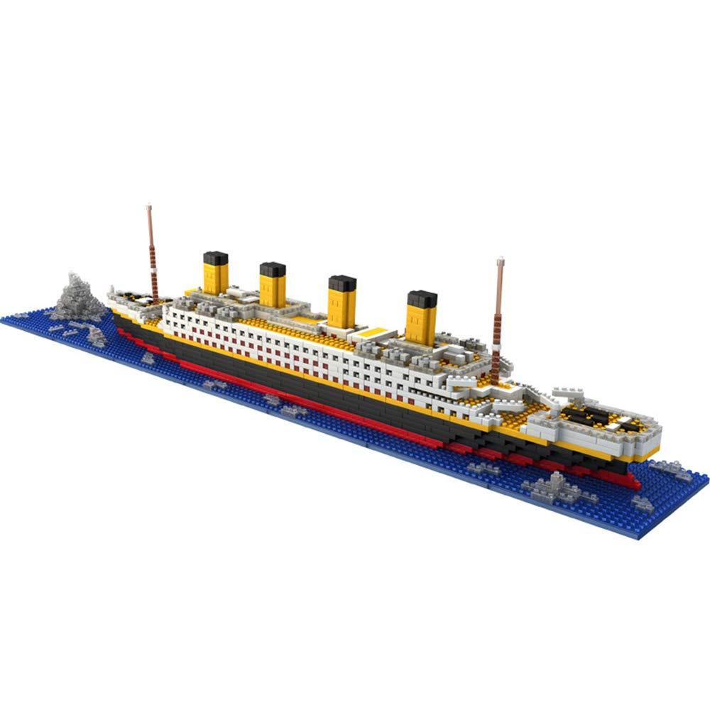 Joyhub Titanic Model Micro Blocks Building Set, 3D Puzzle DIY Educational Toy, Gift for Adults and Children(1860 pcs) (Titanic)