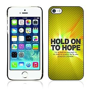 Paccase / Dura PC Caso Funda Carcasa de Protección para - BIBLE Hold On Hope - Apple Iphone 5 / 5S