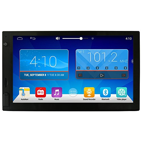 """Ezonetronics HD 7"""" Android4.4 Double 2 Din Capacitive Touch Screen Car Stereo Radio BT Camera Build-in GPS receiver compatible with Waze Navfree Google Map"""