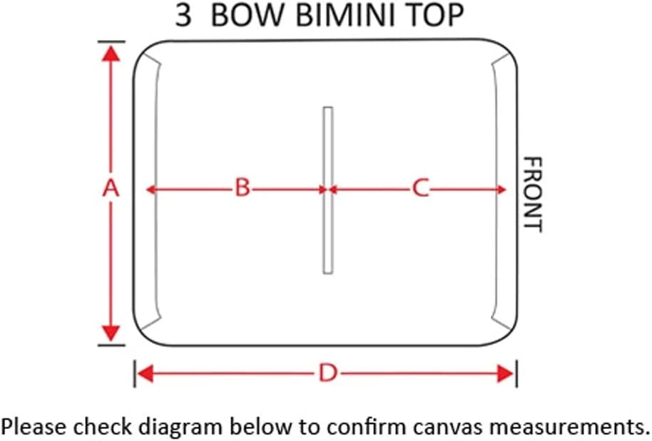 SUMMERSET by Eevelle Premium Bimini 3 Bow Canvas Top SS-3B60 BLK-Parent