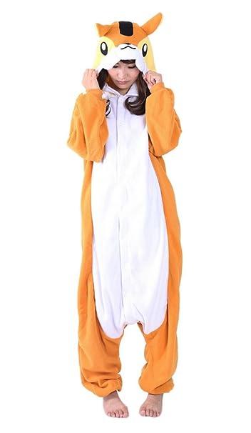 Aivtalk - Disfraz Pijama de una pieza para Mujer Chica de Animal Pelele Traje de Baño Bañador - Ardilla naranja - XL: Amazon.es: Ropa y accesorios