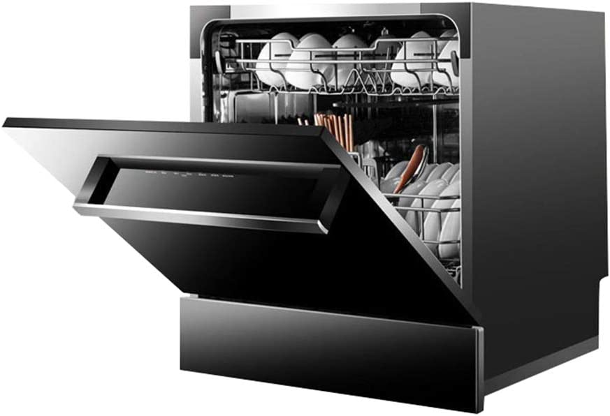 Smart dishwasher STBD-Mini Lavavajillas PortáTil De sobre Encimera, Lavavajillas Incorporado MultifuncióN, PequeñA Cocina Familiar con 8 Cubiertos, Mudo, Negro / 1380w