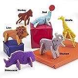 plastic animal cookie cutter set - Animal Cracker 3D Cookie Cutter Set, Elephant Cookie Cutter, Giraffe Cookie Cutter, Brownie Cutter, Cartoon Animal Cookie Cutter Set.