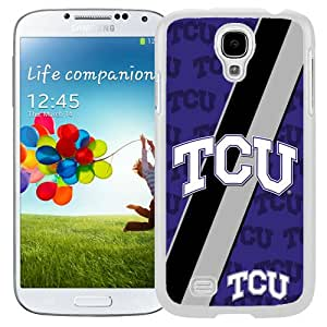 Beautiful And Popular Designed With NCAA Big 12 Conference Big12 Football TCU Horned Frogs 6 Protective Cell Phone Hardshell Cover Case For Samsung Galaxy S4 I9500 i337 M919 i545 r970 l720 Phone Case White