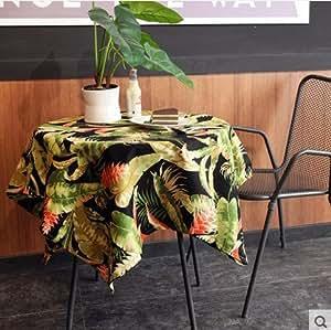 JY$ZB Campo de Plantas Tropicales de América lona de algodón del paño de tabla / paño de tabla de té / Mantel Para el hogar del partido restaurante Hotel , b , 140*250cm