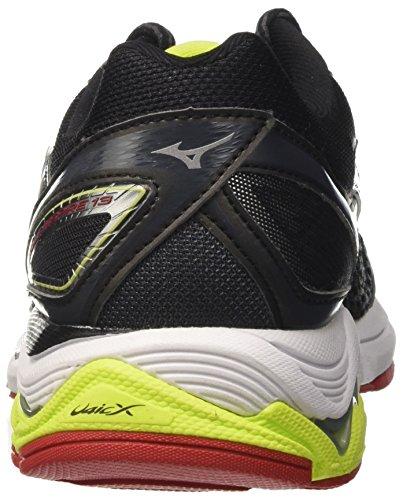 Mizuno Men's Wave Inspire Running Shoes, Black, 9.5 UK Multicolor (Black/Silver/Limepunch)