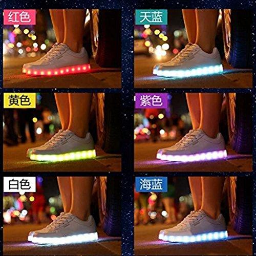 7 Marche Lumière De Homme Charge junglest® Ch Femme présents Mode Usb Serviette dessus Unisexe Led petite C6 Clignotants Chaussures Lumineux Haut Couleur qtvTCn