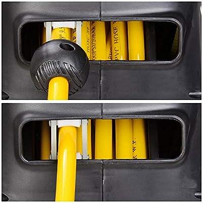 "Yescom 50'x3/8"" Slow Auto Rewind Air Compressor Hose Reel Optional Locking Retractable Swivel Mount Garage"