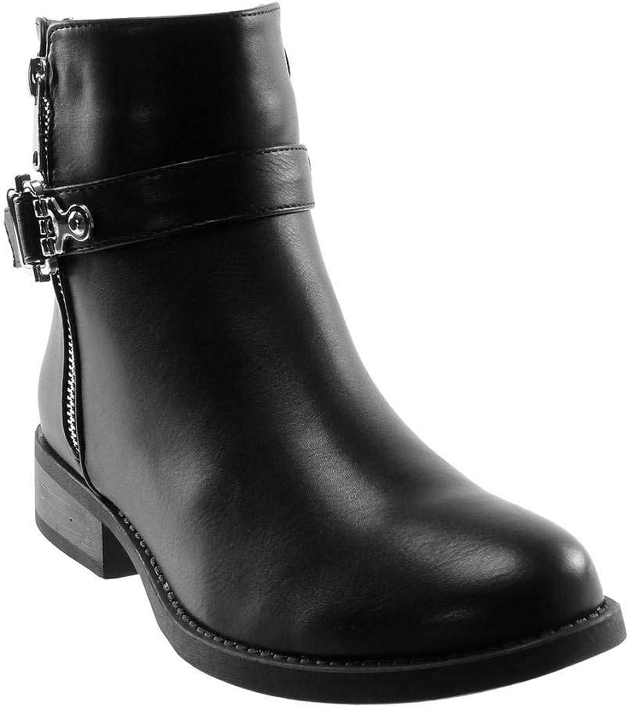 Ogquaton Chausse-pied pliable en m/étal durable avec acier inoxydable simili cuir noir de qualit/é sup/érieure