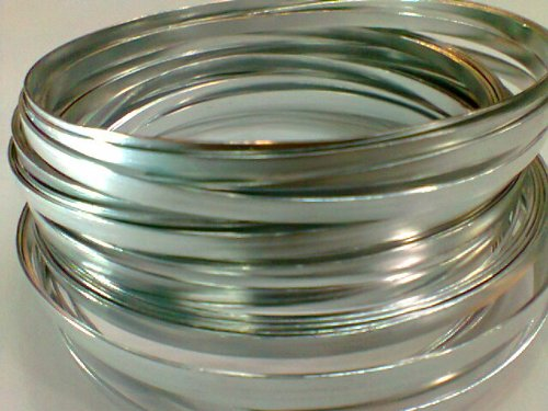 Flat Silver Wire 32ft L X 3/16in W
