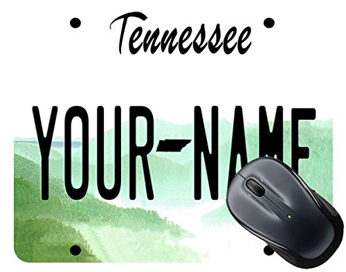 BleuReign(TM) Personalized Custom Name Tennessee State License Plate Square Mouse Pad