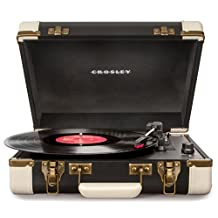 Crosley Radio Executive Portable Turntable, Black and White
