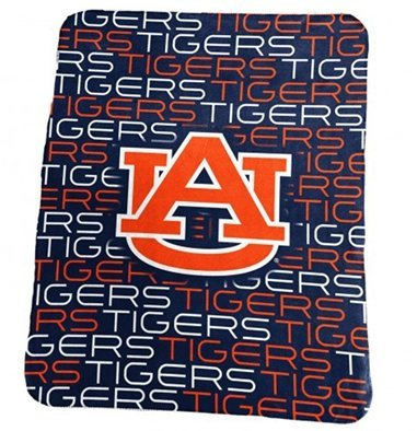 Auburn Fleece Throw Tigers (Auburn University Tigers AU Fleece Blanket Throw)