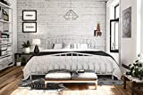 Novogratz 4044149N Bushwick Metal Bed, King, White