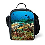 Insulated Kids Lunch Bags Personalized Sea Animals Print Lunch Boxes-C0295G